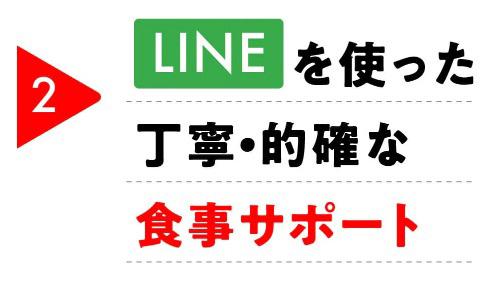 LINEの食事サポート