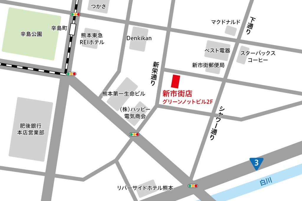 リタスタイル熊本新市街店マップ