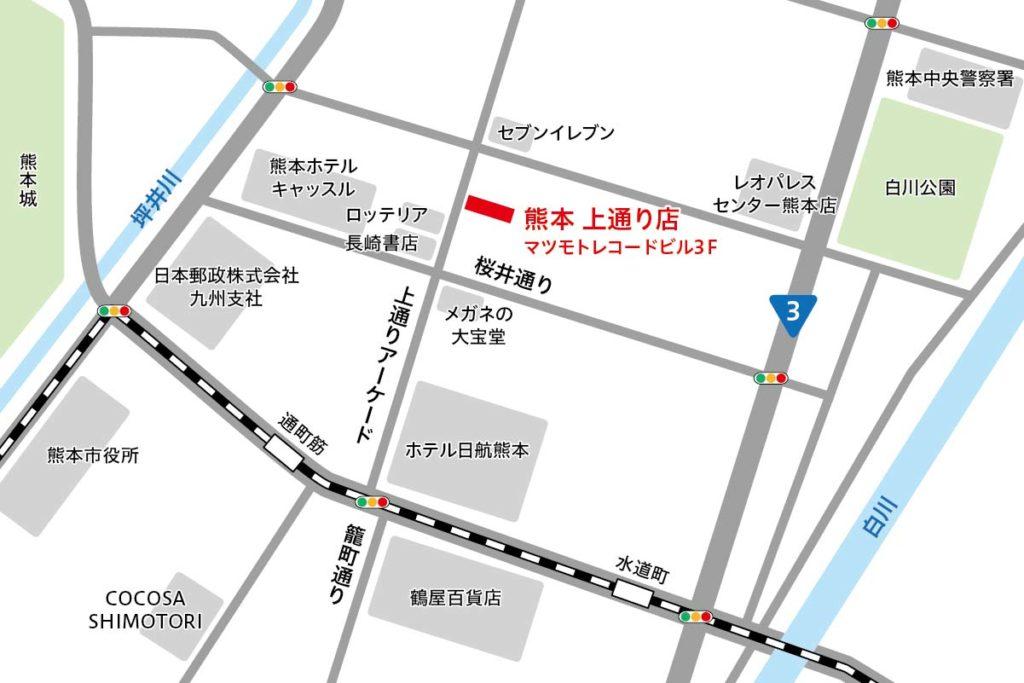 リタスタイル熊本上通店マップ